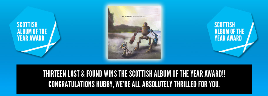 TimeLock composer, RM Hubbert wins Scottish Album of the Year 2013 Award